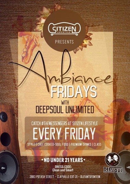 "Sitizen Lifestyle – #AmbianceFridays with DEEPSOUL UNLIMITED ""Oct 2014 Edition"""