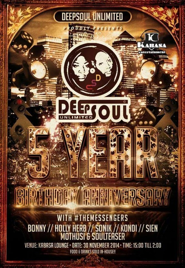 ::5 Years of DeepSoul Unlimited – Birthday Celebration::