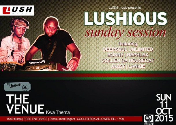 ::Lushious Sunday Sessions 11 Oct. 2015 @TheVenue::