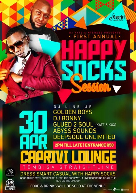 ..::1st Annual Happy Socks Event – 30.04.16 @CapriviLounge::..