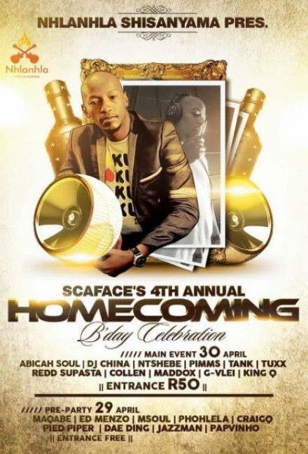 ..::Scaface's 4th Annual Homecoming Birthday – 30.04.2016::..