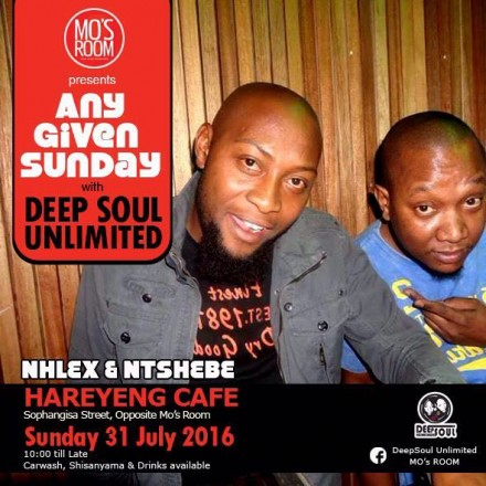 ..::Mo's Room Pres. #AnyGivenSunday 31.07.16 ft. DeepSoul Unlimited::..