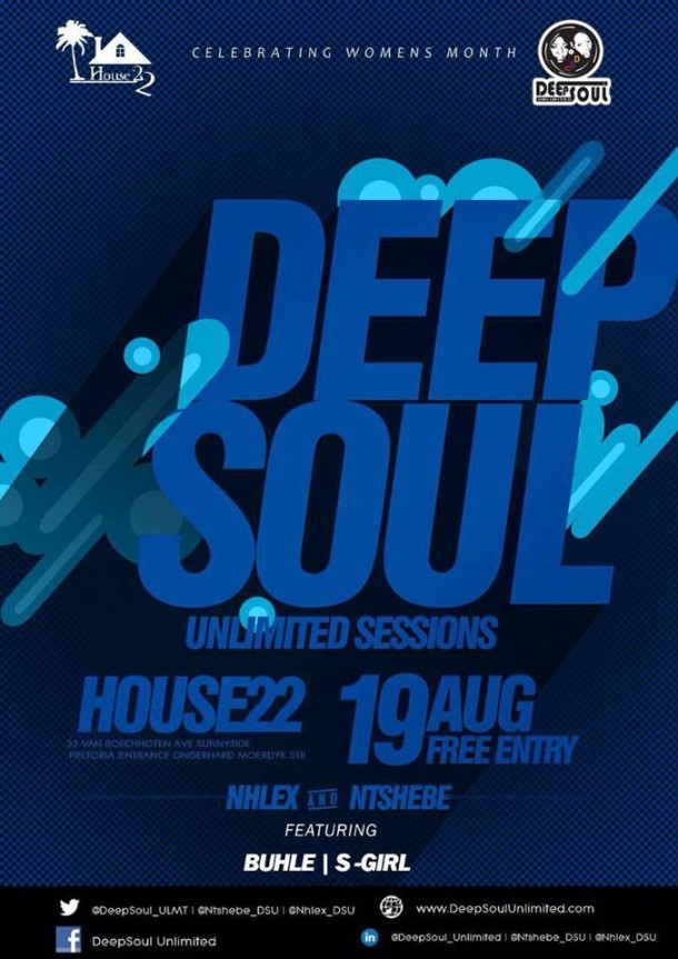 ..::House 22 DeepSoul Unlimited Sessions – Aug 2016 Edition::..