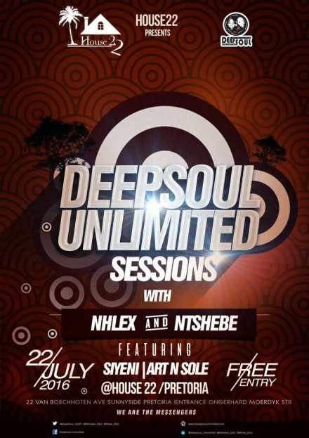 ..::The DeepSoul Unlimited Sessions @House22 – 22 July 2016::..
