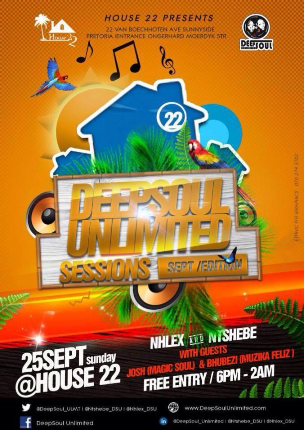 ..::House 22 – DeepSoul Unlimited Sessions – 25 Sept 2016::..