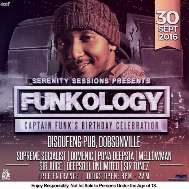 Serenity Sessions – Funkology @DisoufengLounge 30Sept'16
