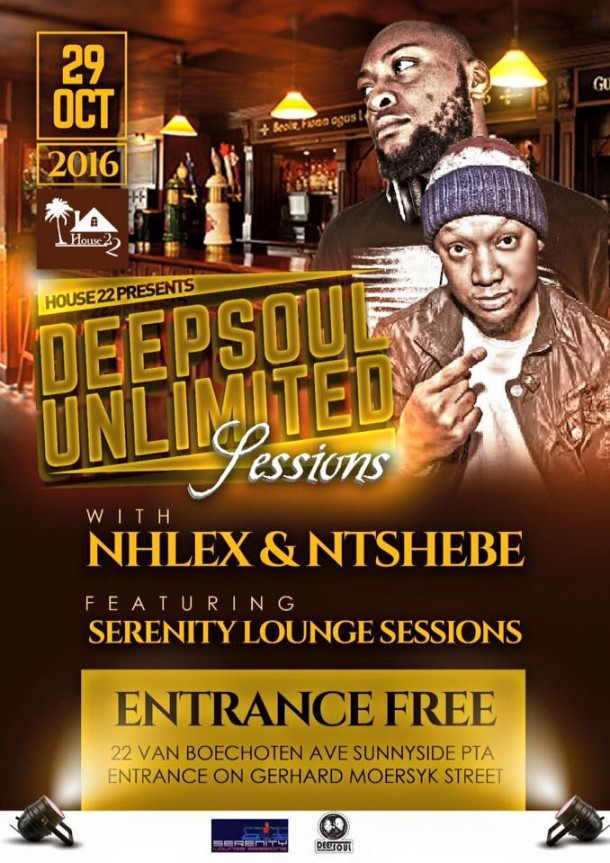 ..::House 22 – DeepSoul Unlimited Sessions – Oct. Edition::..