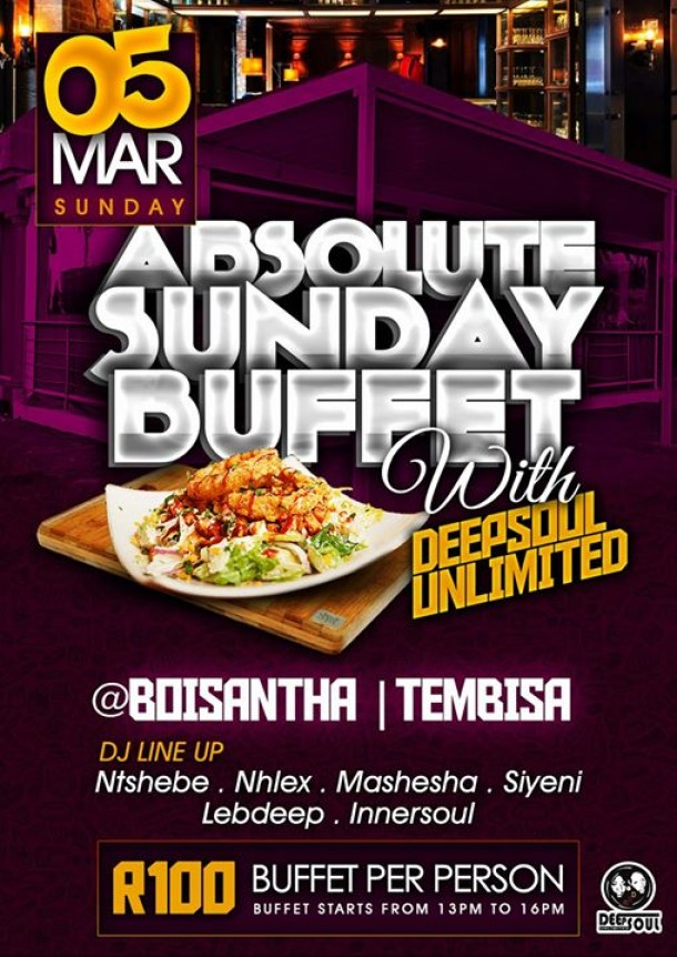 Absolute Sunday Buffet with DEEPSOUL UNLIMITED