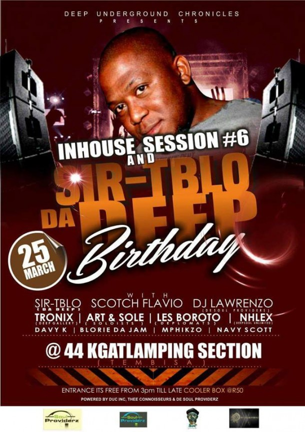 In-House Sessions #6 & SirTiblo Birthday – 25.03.2017