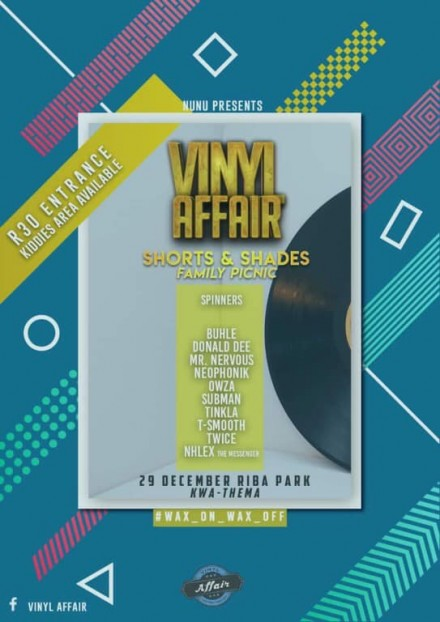 VinylAffair #Shorts&ShadesFamilyPicnic – 29 Dec. 2018!